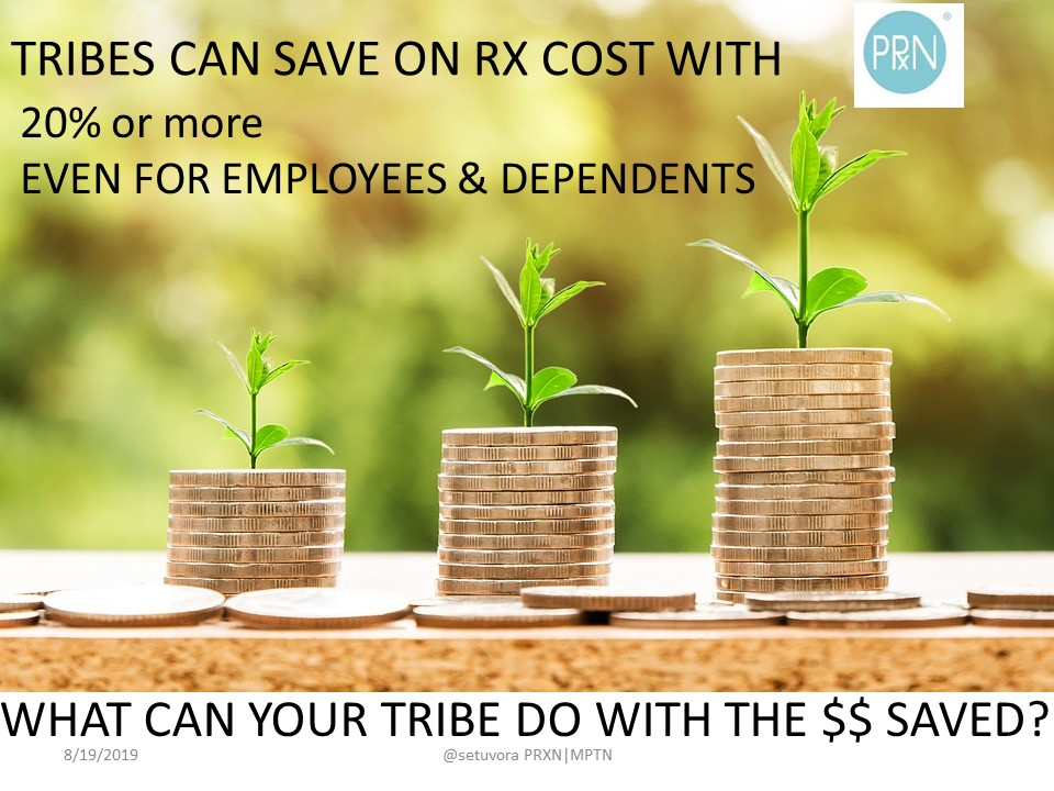 Tribes can save on Rx Costs with 20% or more