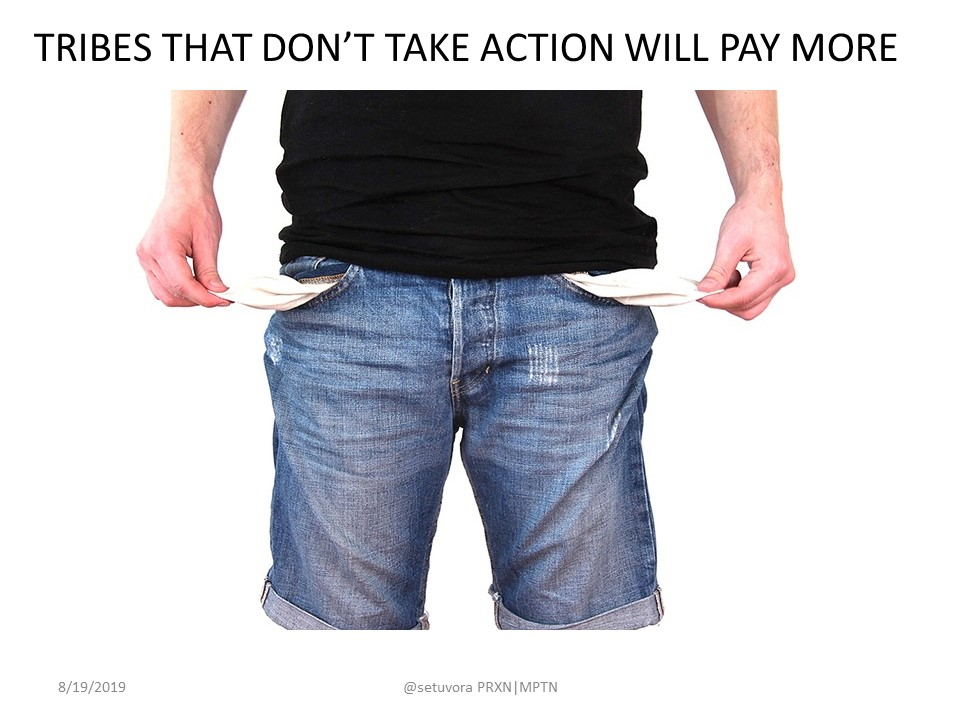 Tribes that don't take action will pay more